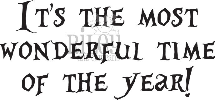 Riley and Company Funny Bones MOST WONDERFUL TIME OF THE YEAR HALLOWEEN Cling Rubber Stamp RWD-846 zoom image