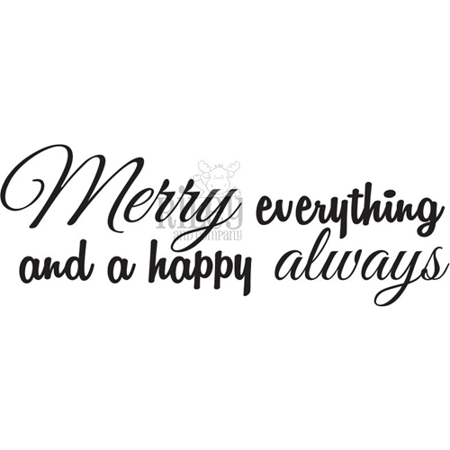 Riley and Company Funny Bones MERRY EVERYTHING Cling Rubber Stamp RWD-826 Preview Image