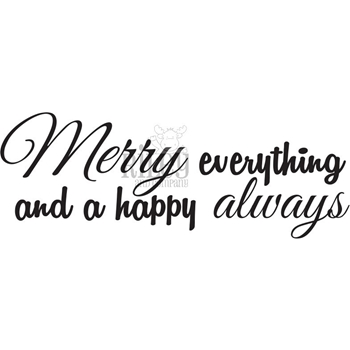 Riley and Company Funny Bones MERRY EVERYTHING Cling Rubber Stamp RWD-826