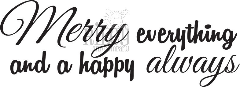 Riley and Company Funny Bones MERRY EVERYTHING Cling Rubber Stamp RWD-826 zoom image