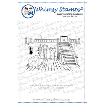 Whimsy Stamps HAUNTED PARLOR Cling Stamp DDB0047