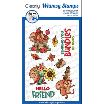 Whimsy Stamps BUNDLES OF HUGS Clear Stamps KHB168a