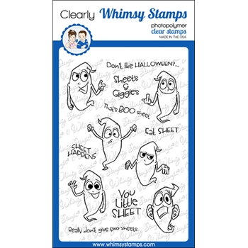 Whimsy Stamps SHEETS AND GIGGLES Clear Stamp CWSD337