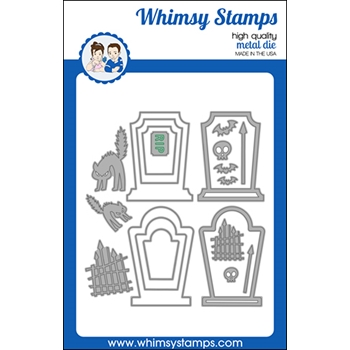 Whimsy Stamps BUILD A GRAVEYARD Dies WSD486