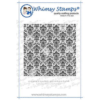 Whimsy Stamps VINTAGE WALLPAPER Cling Background Stamp DDB0046
