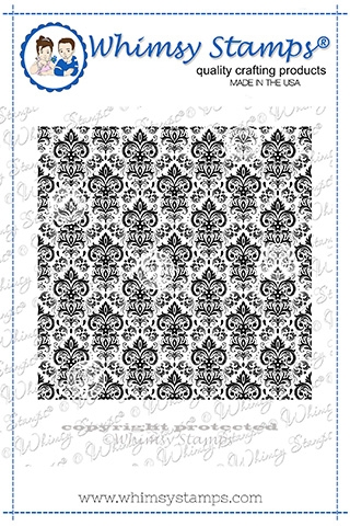 Whimsy Stamps VINTAGE WALLPAPER Cling Background Stamp DDB0046 zoom image