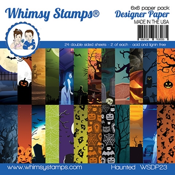 Whimsy Stamps HAUNTED 6 x 6 Paper Pads WSDP23
