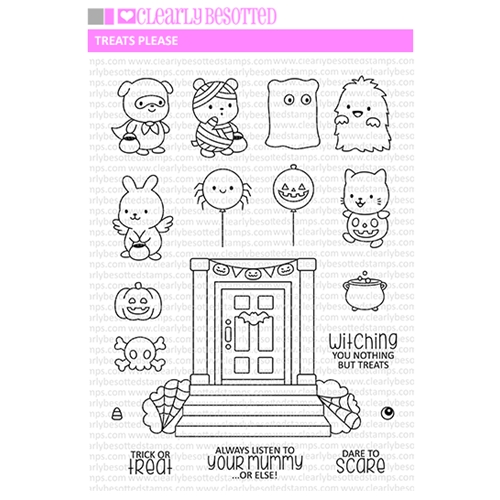 Clearly Besotted TREATS PLEASE Clear Stamps  Preview Image