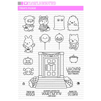 Clearly Besotted TREATS PLEASE Clear Stamps