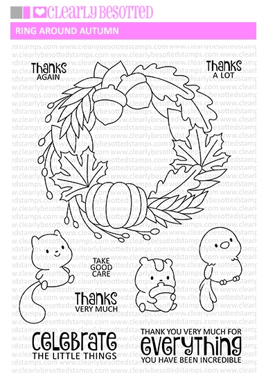 Clearly Besotted RING AROUND AUTUMN Clear Stamps zoom image