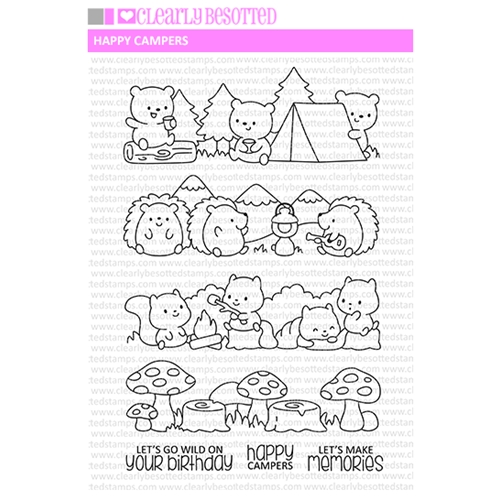 Clearly Besotted HAPPY CAMPERS Clear Stamps Preview Image
