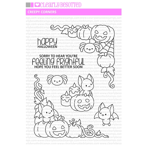 Clearly Besotted CREEPY CORNERS Clear Stamps Preview Image