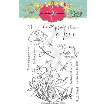 Colorado Craft Company Whimsy World MY WHOLE HEART Clear Stamps WW346*