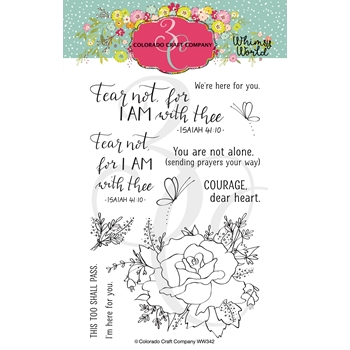 Colorado Craft Company Whimsy World FEAR NOT ROSE Clear Stamps WW342