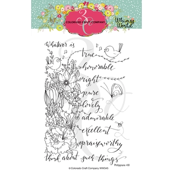 Colorado Craft Company Whimsy World WHATSOEVER THINGS SPRAY Clear Stamps WW345