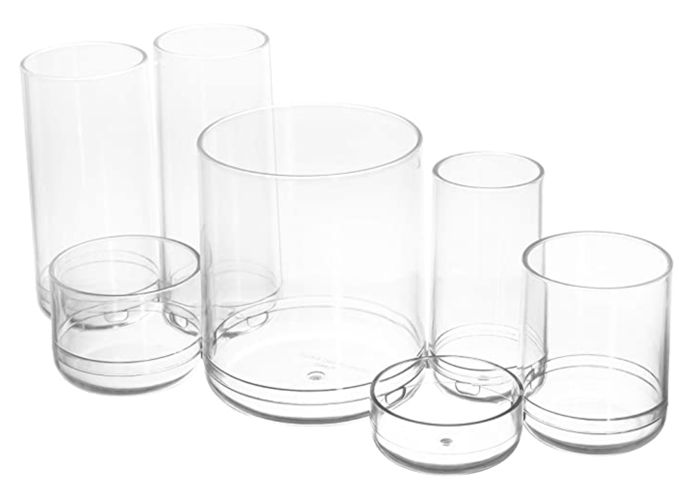 Storage For Crafts Tools ROUND ACRYLIC ORGANIZER rbo0920
