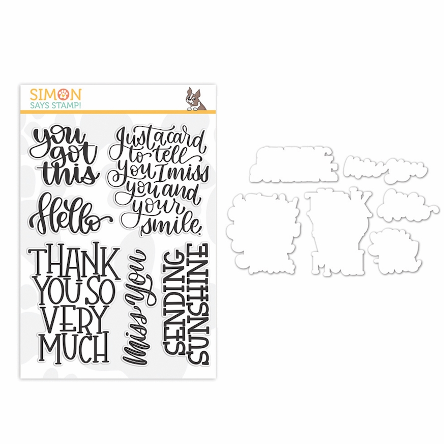 Simon Says Stamps and Dies XL GREETINGS set346xlg Stamptember zoom image