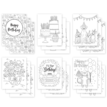Simon Says Stamp Suzy's EVEN MORE BIRTHDAY Watercolor Prints szbdy18wc Stamptember