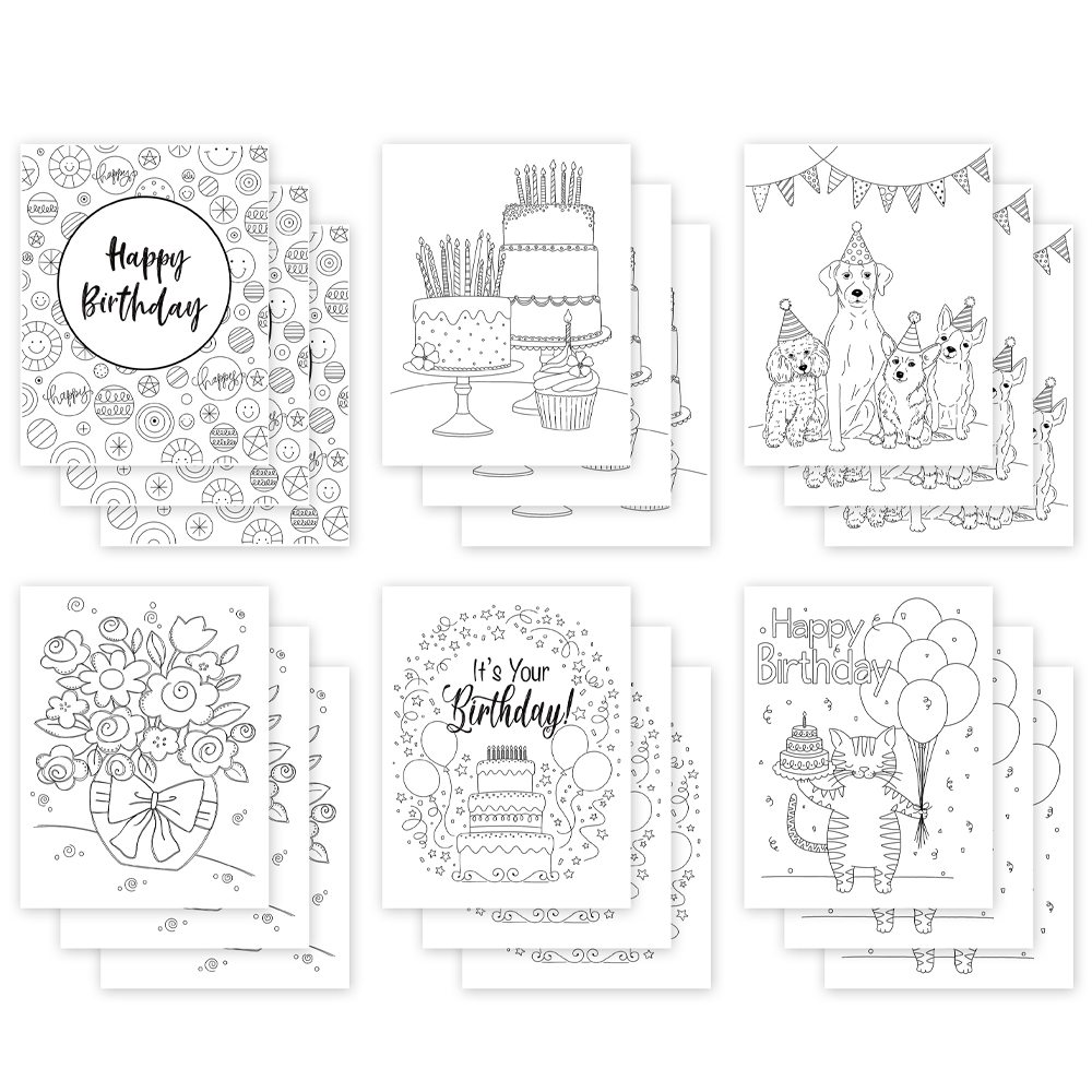 Simon Says Stamp Suzy's EVEN MORE BIRTHDAY Watercolor Prints szbdy18wc zoom image