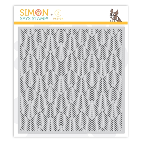 RESERVE CZ Design Cling Stamp DECO SQUARES cz50 Stamptember Preview Image
