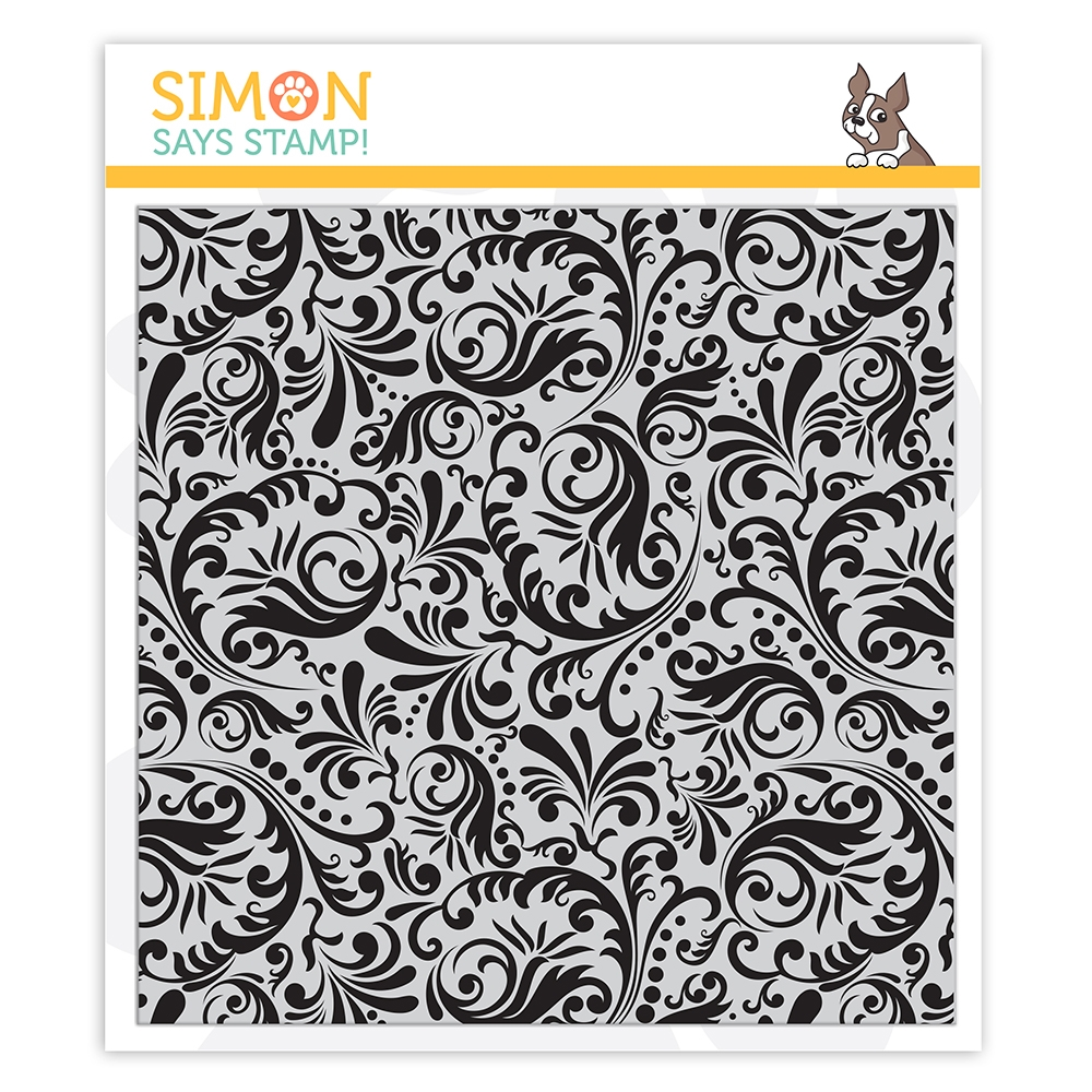 Simon Says Cling Stamp DAMASK BACKGROUND sss102172 Stamptember zoom image