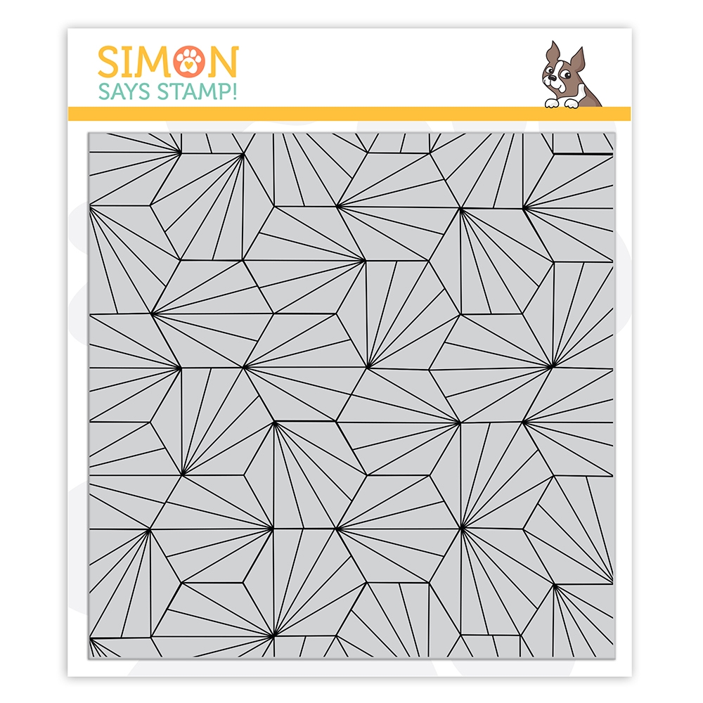Simon Says Cling Stamp HEXAGON TILE BACKGROUND sss102240 Stamptember zoom image