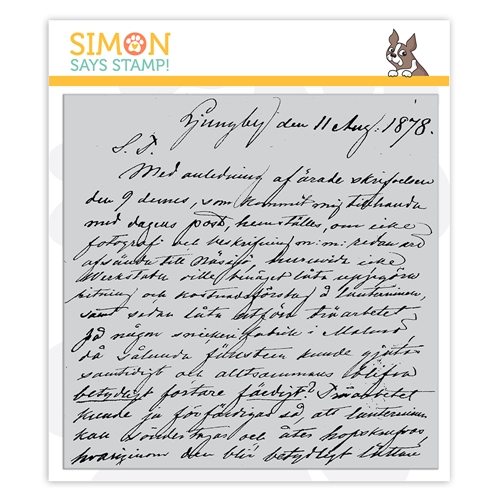 Simon Says Cling Stamp OLD LETTER sss102159 Stamptember Preview Image