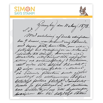 Simon Says Cling Stamp OLD LETTER sss102159