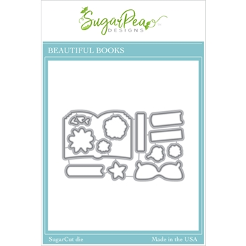 SugarPea Designs BEAUTIFUL BOOKS SugarCuts Dies spd00462