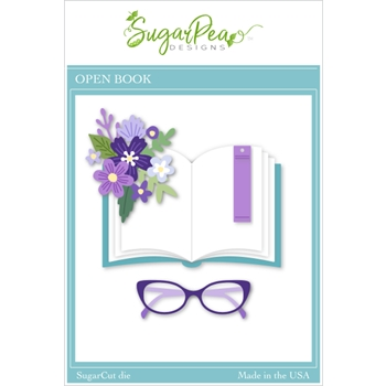 SugarPea Designs OPEN BOOK SugarCuts Dies spd00463