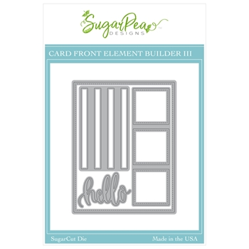 SugarPea Designs CARD FRONT ELEMENT BUILDER III SugarCuts Dies spd00464