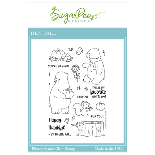 SugarPea Designs HEY FALL Clear Stamp Set spd00465 Preview Image