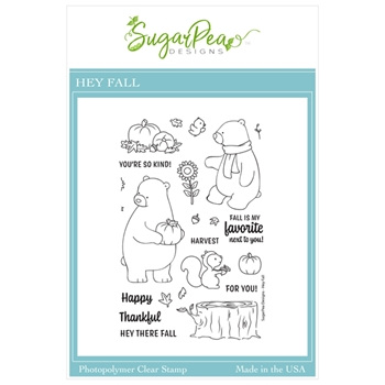 SugarPea Designs HEY FALL Clear Stamp Set spd00465