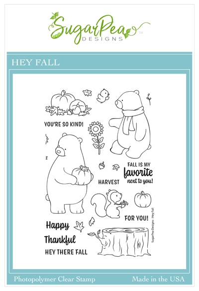 SugarPea Designs HEY FALL Clear Stamp Set spd00465 zoom image