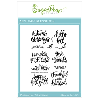 SugarPea Designs AUTUMN BLESSINGS Clear Stamp Set spd00469