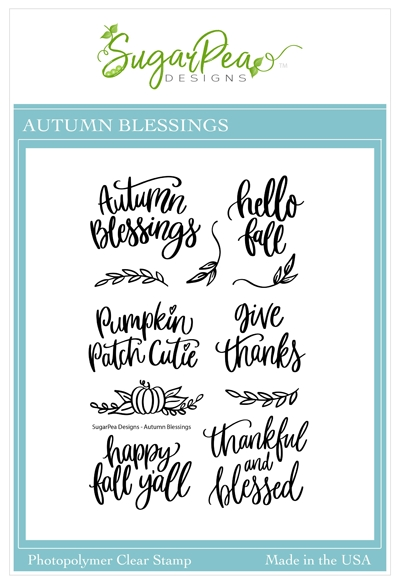 SugarPea Designs AUTUMN BLESSINGS Clear Stamp Set spd00469 zoom image