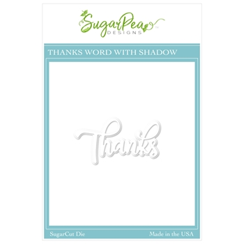 SugarPea Designs THANKS WORD SugarCuts Dies spd00470