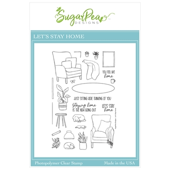 SugarPea Designs LET'S STAY HOME Clear Stamp Set spd00471