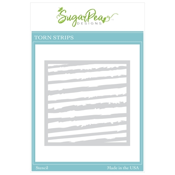 SugarPea Designs TORN STRIPS Stencil spd00473