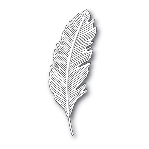 Simon Says Stamp ENGRAVED FEATHER Wafer Die s688 Preview Image