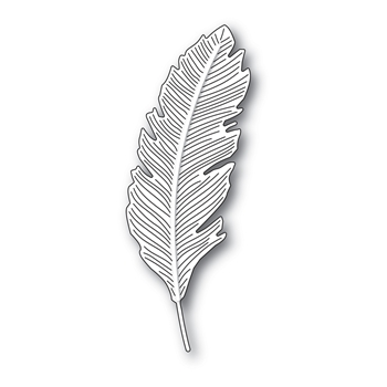 Simon Says Stamp ENGRAVED FEATHER Wafer Die s688 Stamptember