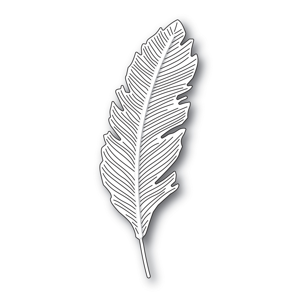 Simon Says Stamp ENGRAVED FEATHER Wafer Die s688 zoom image