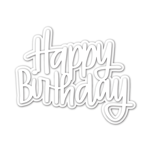 Simon Says Stamp HAPPY BIRTHDAY BRUSH SCRIPT Wafer Dies sssd112116 Stamptember Preview Image