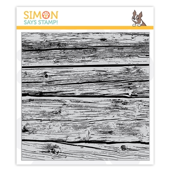 Simon Says Cling Stamp WOOD PLANKS sss102160 Stamptember