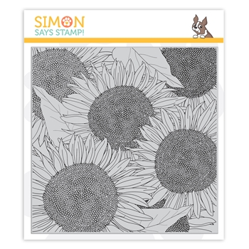 Simon Says Cling Stamp SUNFLOWER BACKGROUND sss102154 Stamptember