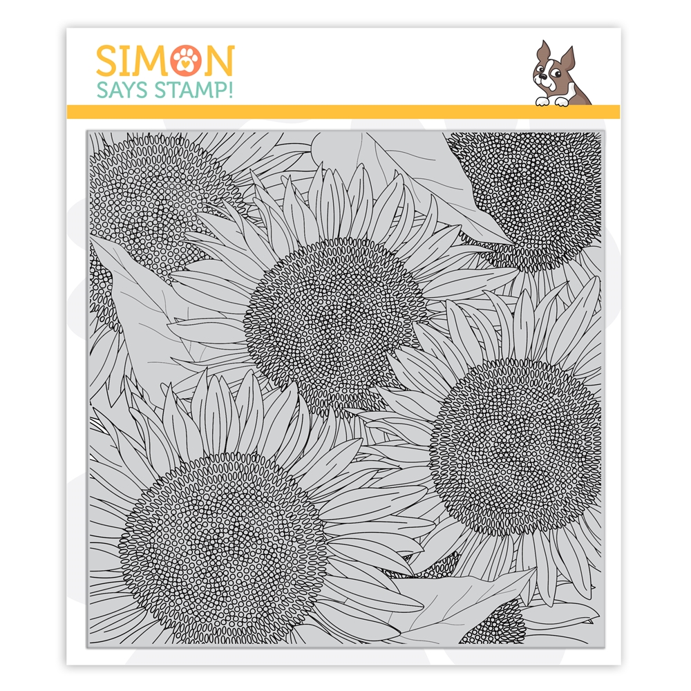 Simon Says Cling Stamp SUNFLOWER BACKGROUND sss102154 Stamptember zoom image