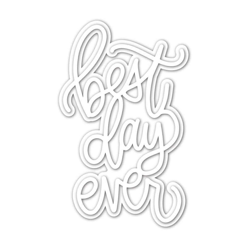 Simon Says Stamp BEST DAY EVER Wafer Dies sssd112151 Stamptember zoom image