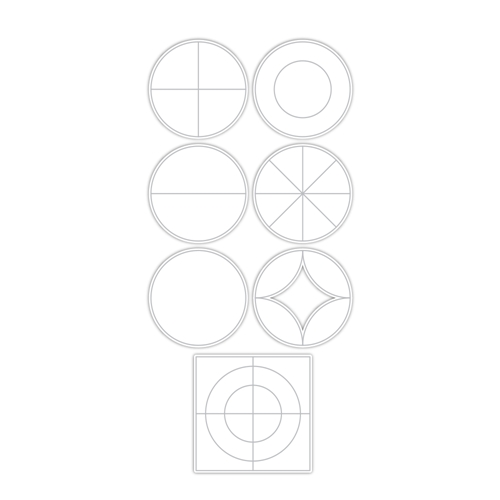 Simon Says Stamp GEOMETRIC BUILDER CIRCLES Wafer Dies sssd112161 Stamptember Preview Image