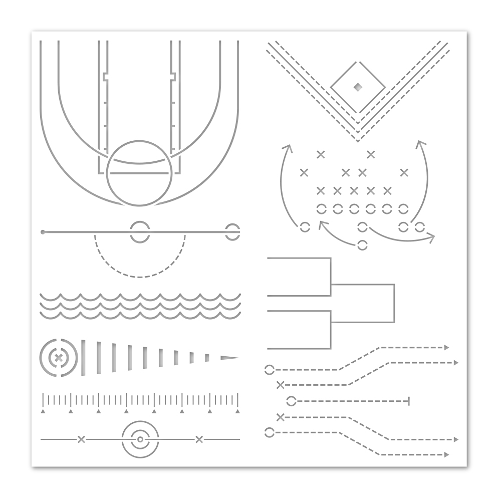 Simon Says Stamp Stencil GAME DAY PATTERNS PLAYBOOK ssst121500 Stamptember zoom image