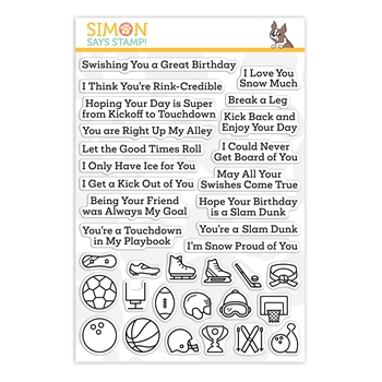 Simon Says Clear Stamps WHAT A GOOD SPORT FALL and WINTER sss202197 Stamptember